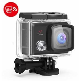 【進化版】Victure アクションカメラ 2インチタッチパネル 4K高画質 2000万画素手振れ補正 WiFi搭載 30M防水カメラ 超広角レンズ 1050mA
