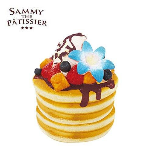 巧克力款【日本正版】煎餅 捏捏吊飾 鬆餅 吊飾 捏捏樂 軟軟 squishy 捏捏 SAMMY - 620446