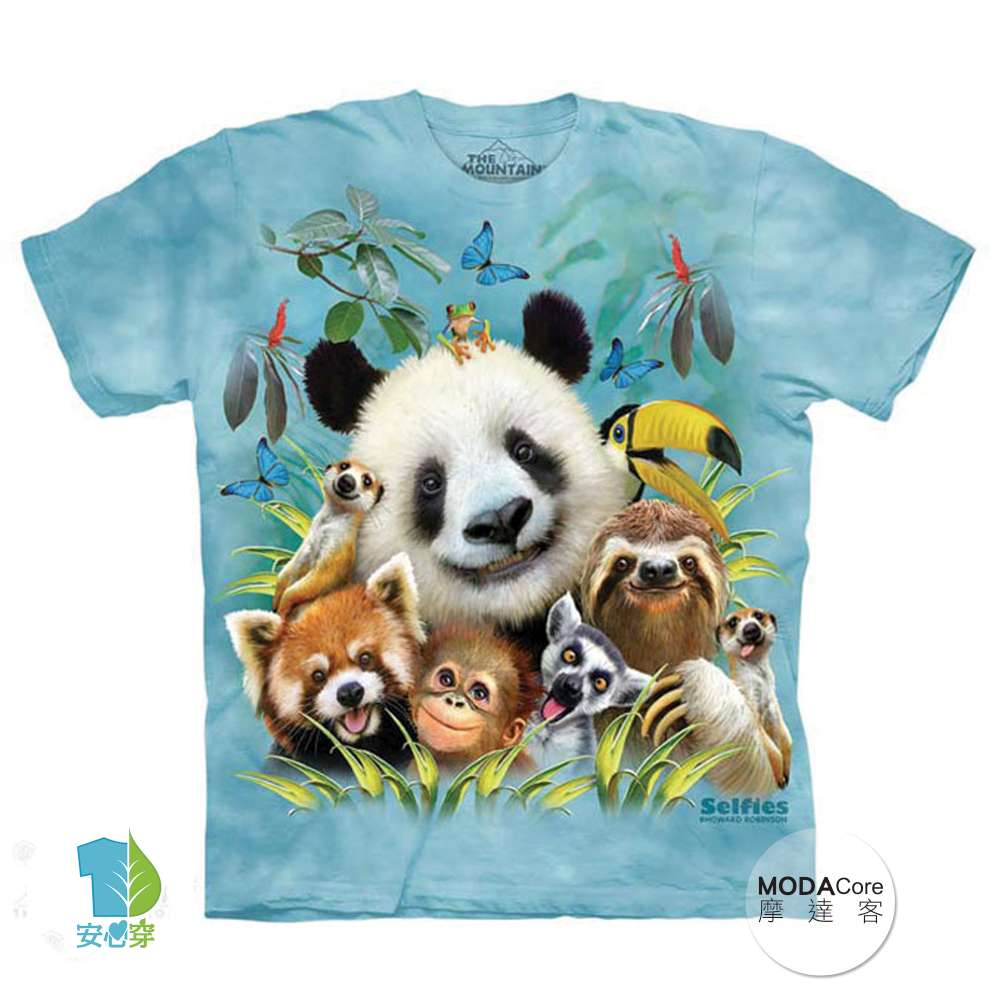 【摩達客】(預購) 美國進口The Mountain 動物園哦耶 純棉環保短袖T恤