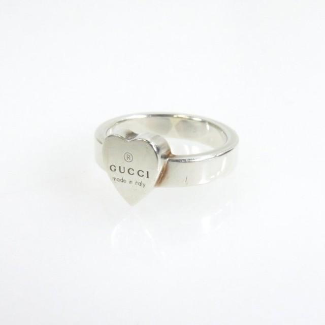 new product 9c9a3 6503c GUCCI【グッチ】 ハート リング・指輪 シルバー レディース ...