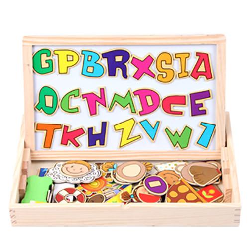 funkids木製-天馬行空磁性拼貼寶盒-(abc組)