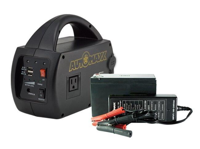 AUTOMAXX★超值組合★【UP-5HA】DC/AC專業級手提式行動電源+【UP-5HB】補充配件