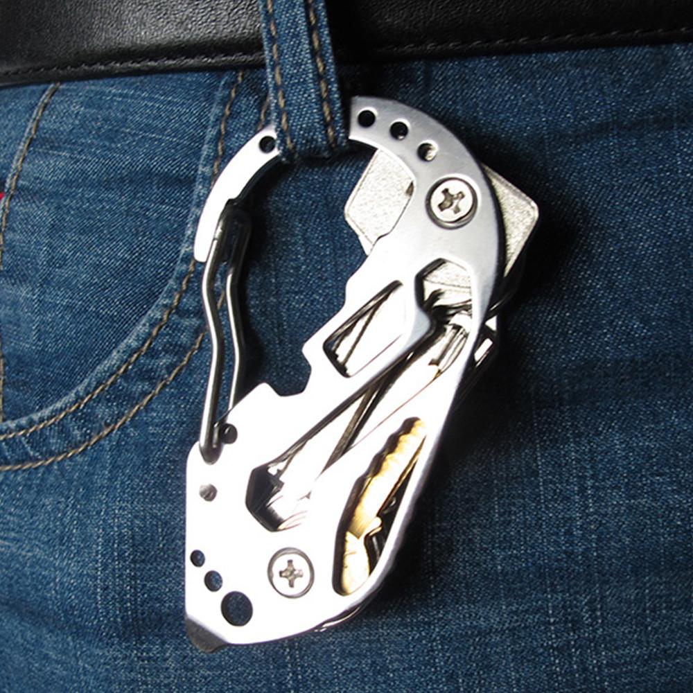 outkeeper戶外多功能不鏽鋼edc工具多功能鑰匙扣登山扣