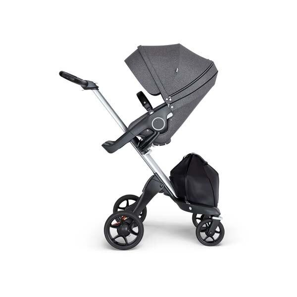 Stokke Xplory V6嬰兒手推車(座椅黑灰麻)