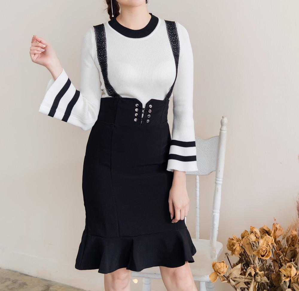 正韓窄裙 蕾絲吊帶魚尾裙 人魚公主 cp值超高 氣質優雅 保證正韓 韓國空運