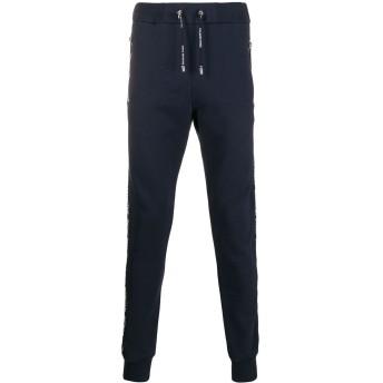Balmain logo strap track trousers - ブルー