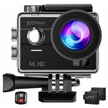 Jeemak 4Kアクションカメラ 1600万画素 【タッチパネル式】 フルHD 30m防水 WiFi搭載 リモコン付き 32GBカード対応 ウェアラブルカメラ 1