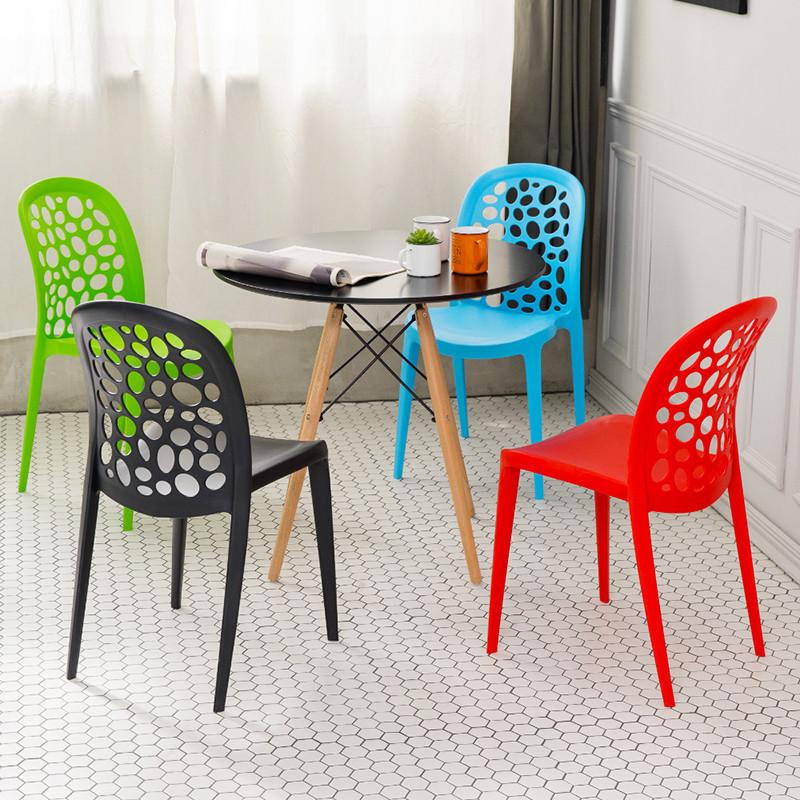 單入組時尚尖端設計感餐椅 單椅 休閒椅 造型椅(四色可選)