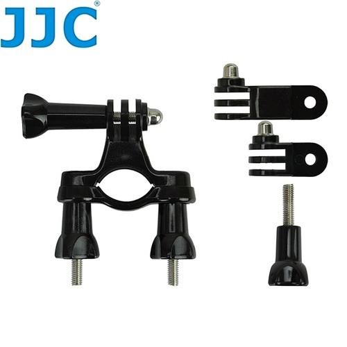 JJC GOPRO極限運動攝影機配件GP-J7側向小圓管固定座+快拆螺栓螺絲Hero英雄4黑版3+銀版2錄影機1