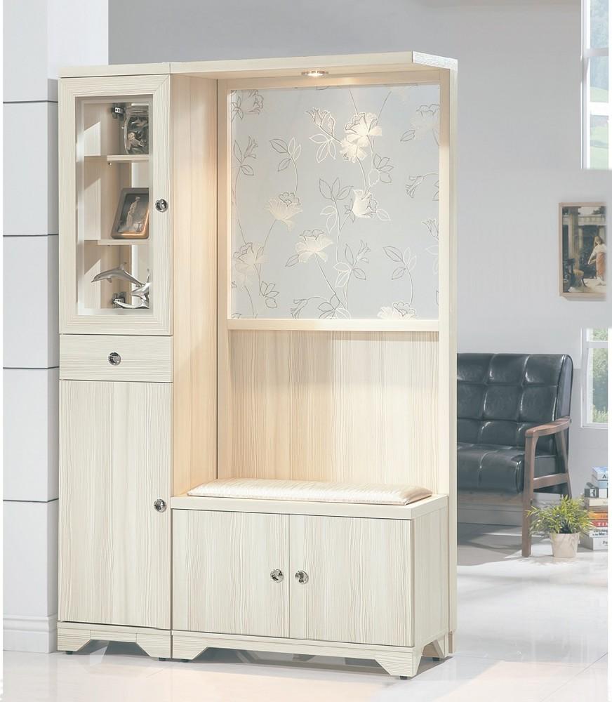muna溫士頓雪杉白色4尺雙面屏風鞋櫃(另有胡桃色)