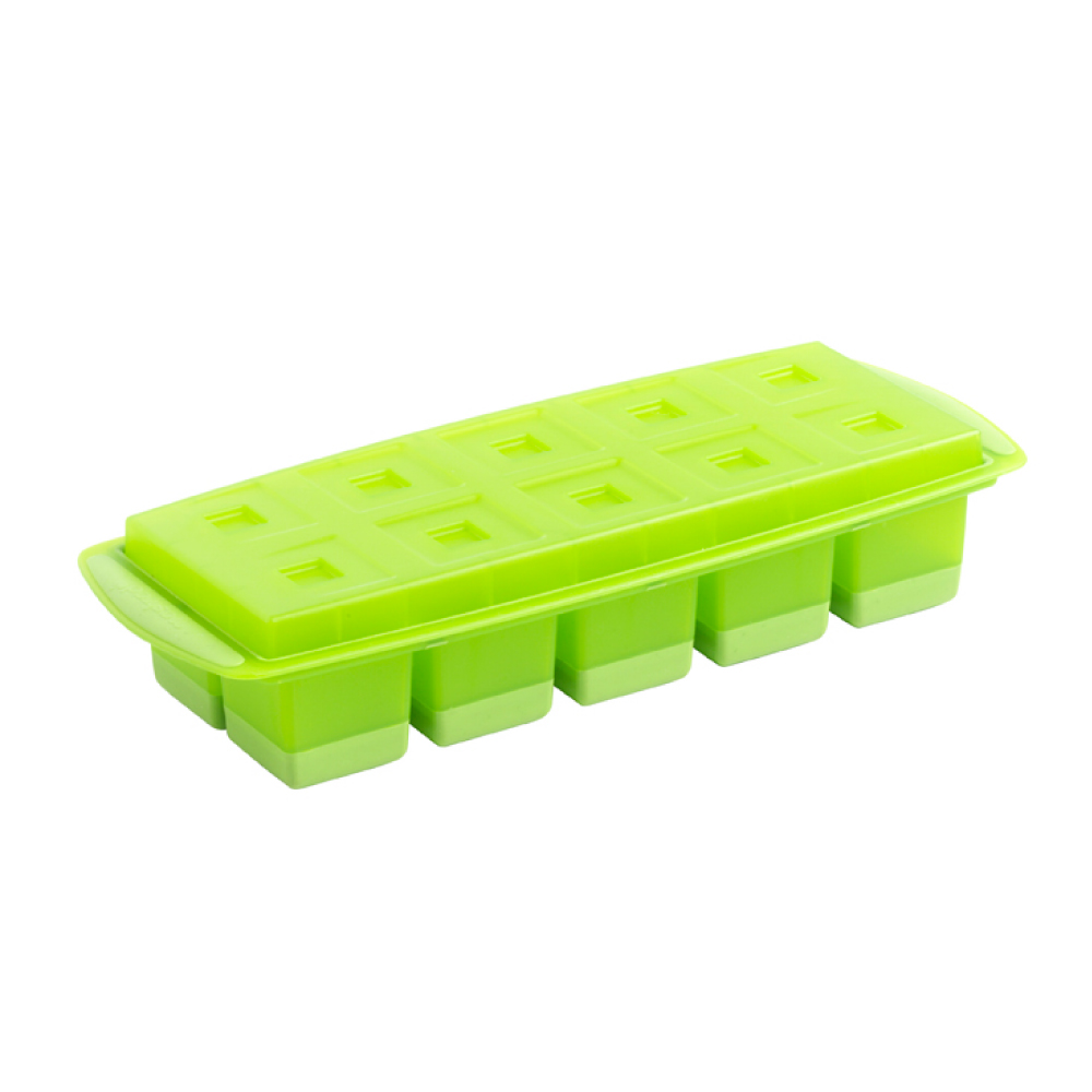 法國mastrad 10格方形按壓製冰盒(綠)