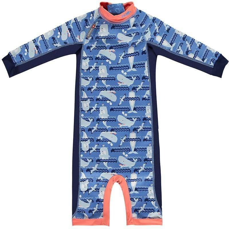 嬰兒長袖泳裝(1-4Y)-鯨魚 XL
