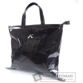 Kitamura キタムラ ロゴデザイン トートバッグ コーティングキャンバス レディース 中古