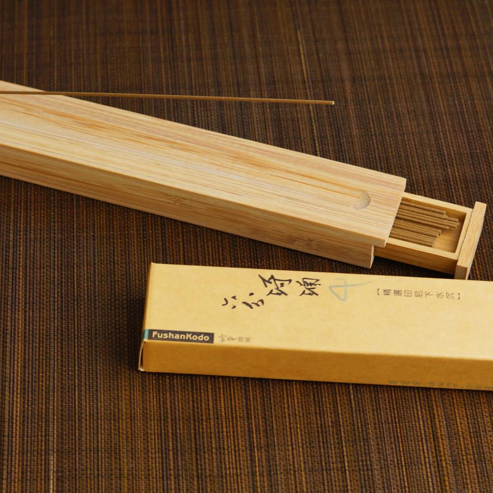 富山香堂六分琦楠205mm臥香飄逸盒