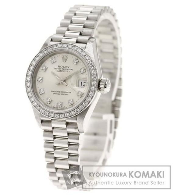 meet f96c8 bd26d ROLEX ロレックス69136G デイトジャスト 腕時計 プラチナ ...