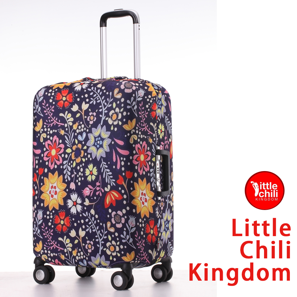 LittleChili行李箱套517-小花藍 M