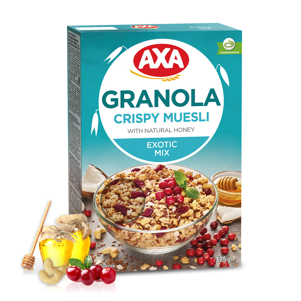 【瑞典AXA】亞麻籽莓果穀物麥片(375g)