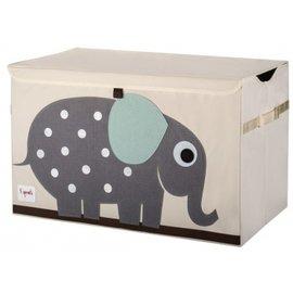 【淘氣寶寶】加拿大 3 Sprouts 大型玩具收納箱-小象【超大容量造型玩具箱,可摺疊收納,加蓋防塵】【保證公司貨●品質保證】