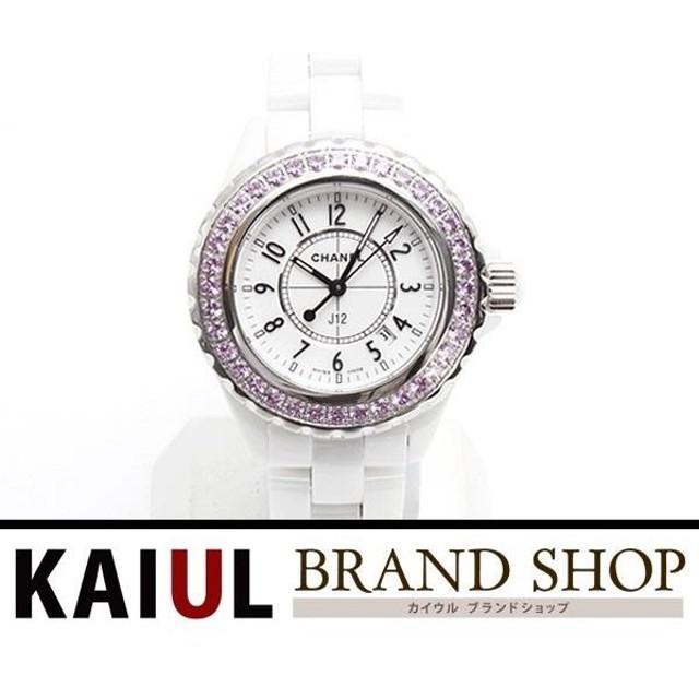 finest selection 02f05 618ab シャネル J12 ピンクサファイアベゼル H1181 ホワイト 時計 新品 ...