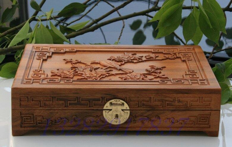 (收納空間)香樟木雕花首飾珠寶盒預購七天