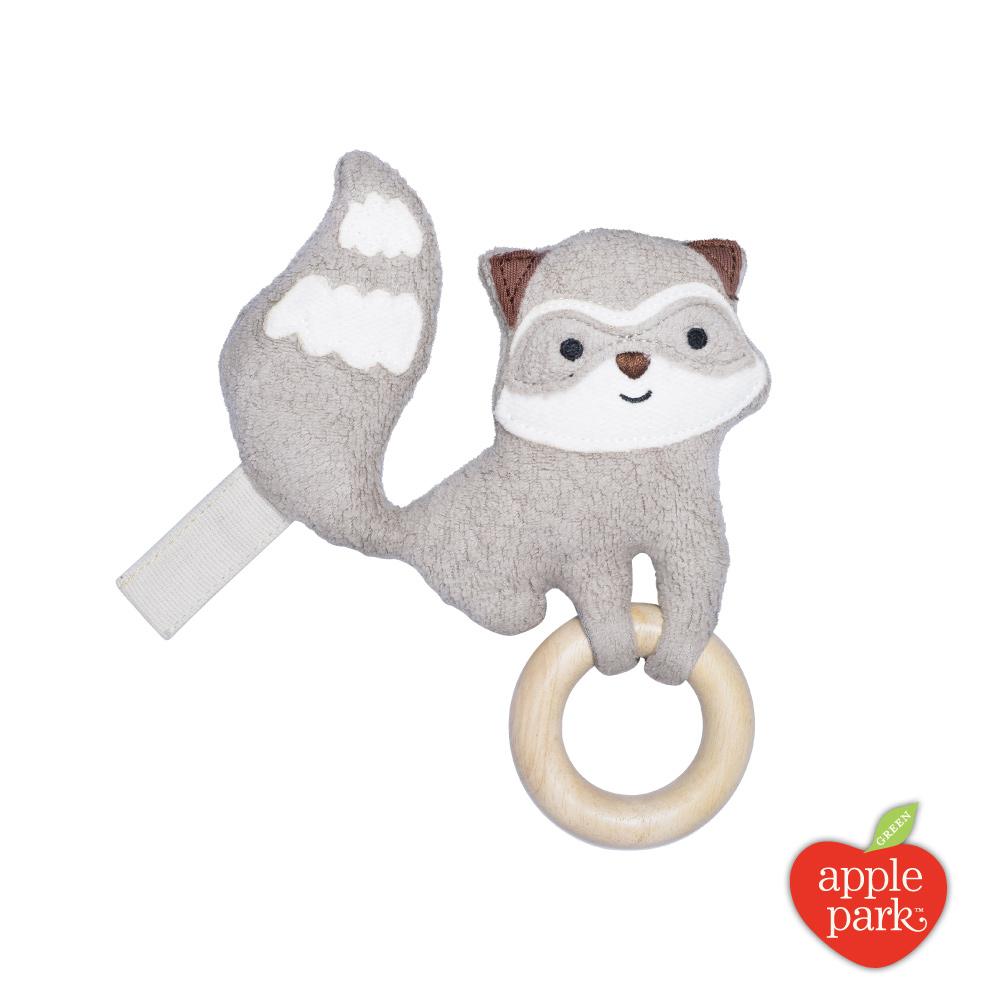 美國 Apple Park 隨身安撫啃咬牙環玩具 - 小浣熊