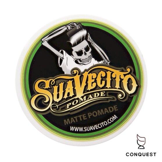 【 CONQUEST 】Suavecito Matte Pomade 無光澤油頭髮蠟 水性基底 骷髏髮油 古龍水香味