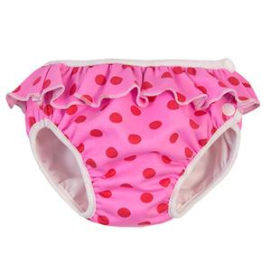 瑞典ImseVimse-超彈性防漏游泳尿褲(粉紅點點/L 9-12kg)