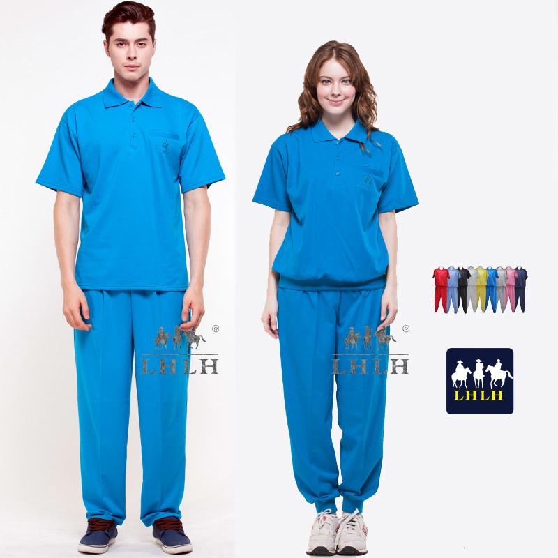 翠藍色套裝 母娘色 慈惠堂 進香服 廟會服 短袖 男女 polo衫
