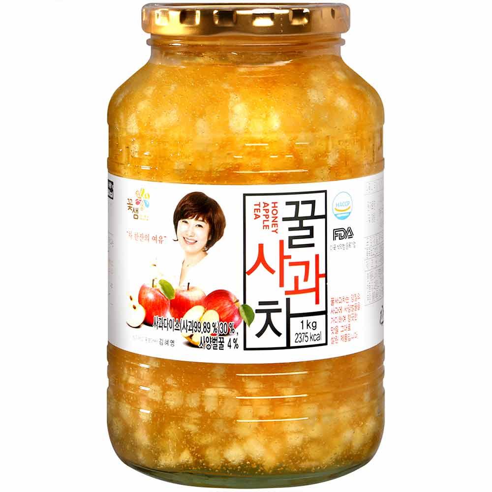 韓國超市必買!! KKOH SHAE 蜂蜜蘋果醬 1kg~可以當作吐司抹醬或沖泡茶飲喔!!