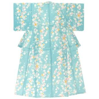 bonheur saisons 浴衣単品 桜 綿麻 レディース