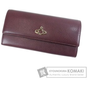 Vivienne Westwood ヴィヴィアンウエストウッド ロゴデザイン 長財布(小銭入れあり) レザー レディース 中古