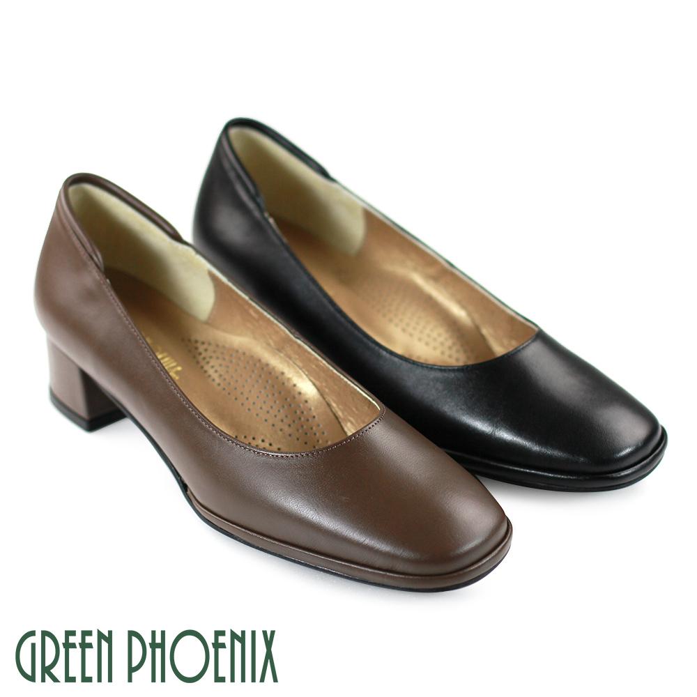 【GREEN PHOENIX】優雅OL風 氣質上班族最愛粗跟舒適低跟鞋U23-20882