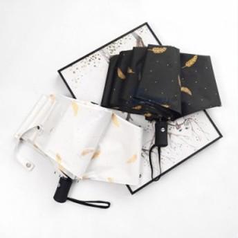 折りたたみ傘 レディース オシャレ 自動開閉 晴雨兼用 4色 プリント 日傘 雨傘 紫外線対策 3段折りたたみ傘 UVカット