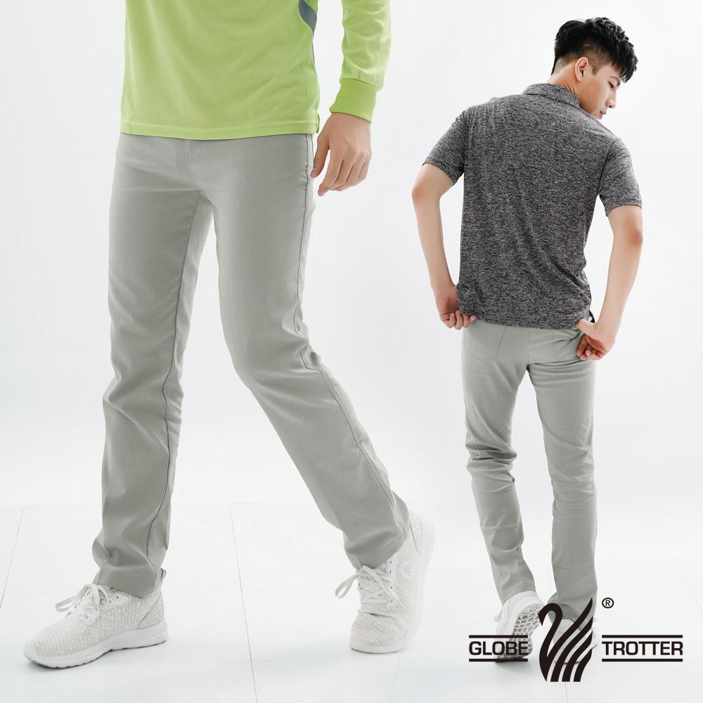 【遊遍天下】基本款修身彈力時尚休閒長褲P137淺灰