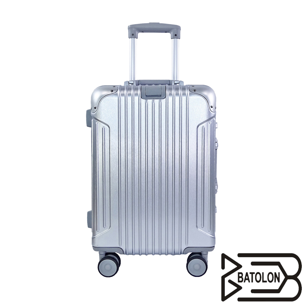 【BATOLON寶龍】20吋  經典系列TSA鎖PC鋁框箱/行李箱 (5色任選)