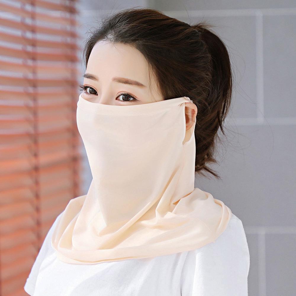 幸福揚邑 360度防曬涼感抗UV口罩面罩2入組-米