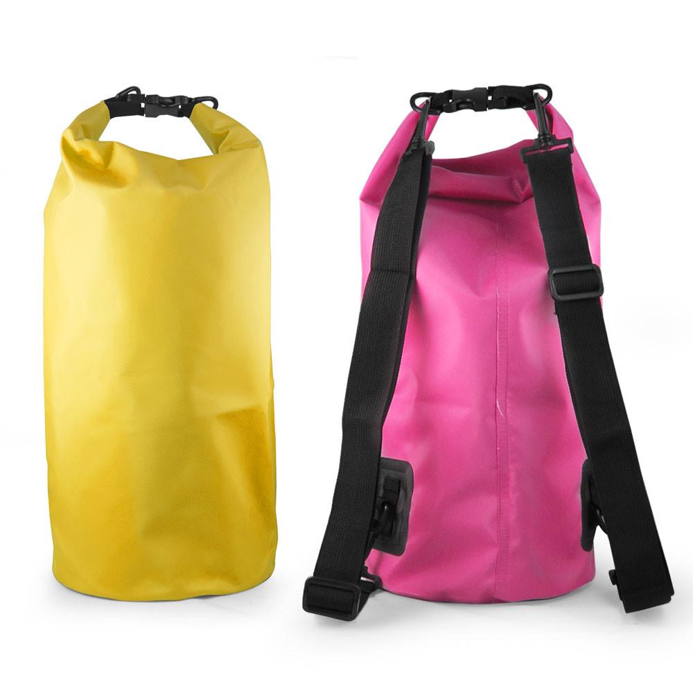 15L大容量 防水運動筒型背包-黃色/粉紅 --大膽玩色,展現個人獨家特色-- --擁有15L超大容量,大收納空間-- 夏日出遊玩水,出門攜帶『15L大容量 防水運動筒型背包』 有高防潑水性能,再也不