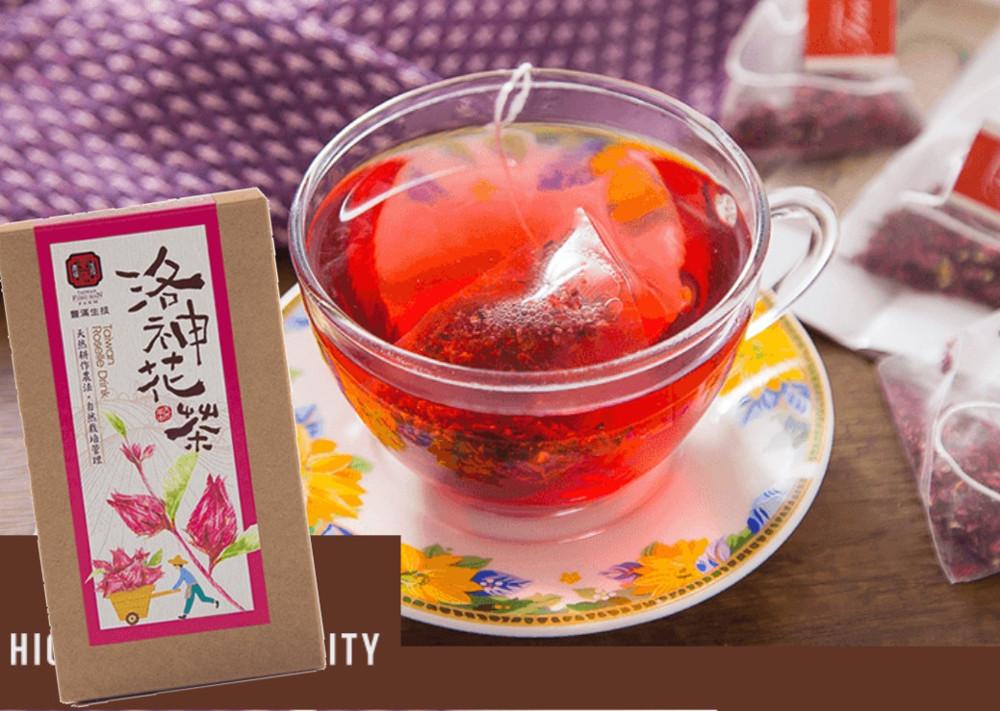 豐滿生技天然耕作農法自然栽培之洛神花茶三角立體茶包