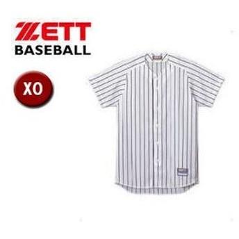 ZETT/ゼット  BU521-1129 フルオープン ストライプメッシュシャツ 【XO】 (ホワイト×ネイビー)