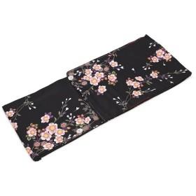 洗える着物 プレタ着物 小紋 袷 hiromichi nakano 花柄 黒 水色 洗える着物