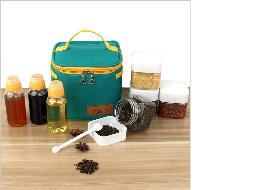 新貨!戶外露營調味料罐7件組 調味罐收納袋 料理罐收納包 調味料袋