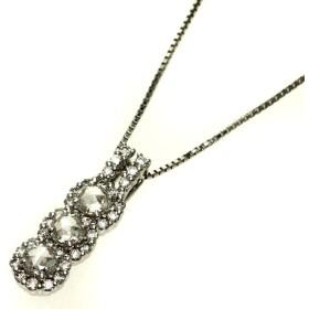 ダイヤモンド ネックレス K18ホワイトゴールド  中古 SELECT JEWELRY セレクトジュエリー