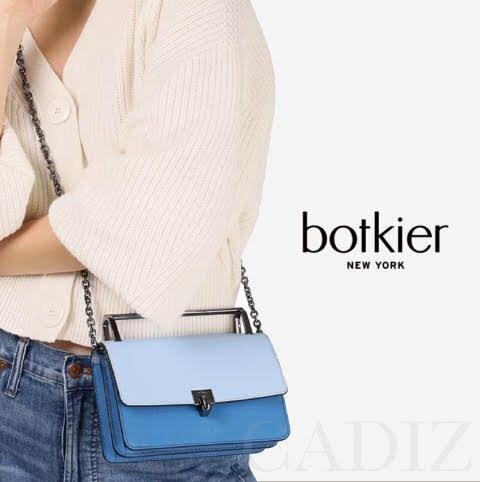 預購 美國正品 Botkier Lennox Small Cross Body Bag  藍色氣質時尚拼色掀蓋手提肩背包