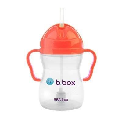 【淘氣寶寶】澳洲 b.box 防漏學習水杯-橘紅 (240mls/8oz)【加重的吸管球設計,任何角度皆能吸到】