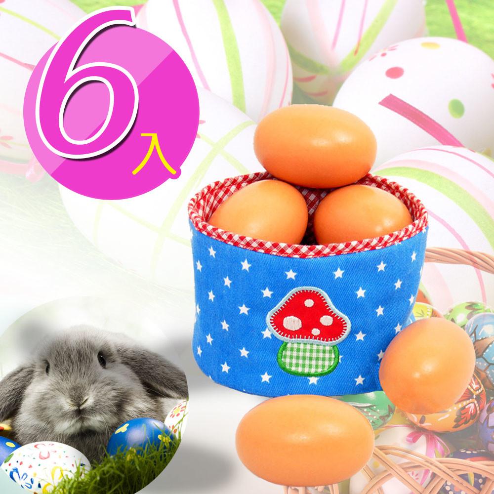 funkids兒童-木製仿真彩繪雞蛋(6入)