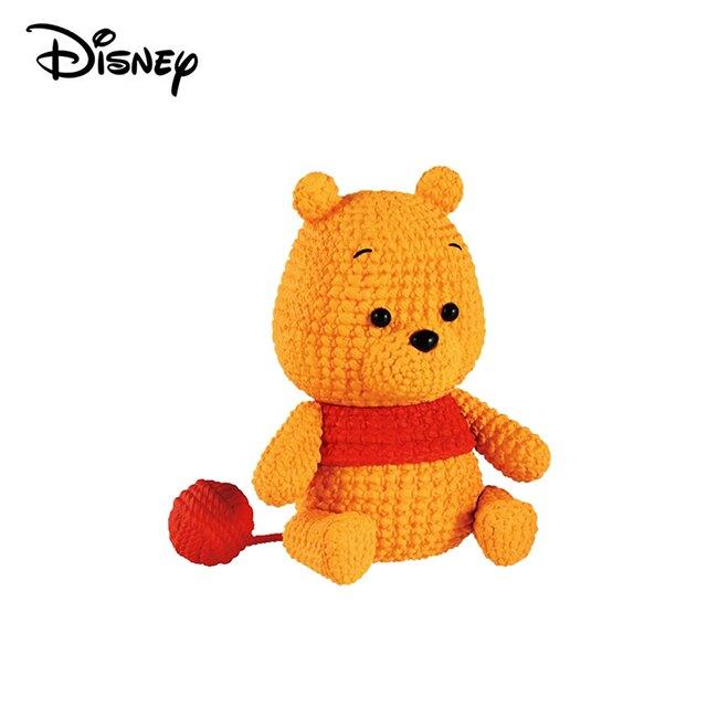 小熊維尼【日本正版】Amicot 小熊維尼 小豬 編織公仔 Winnie 公仔 模型 迪士尼 Banpresto 萬普 - 387568-A
