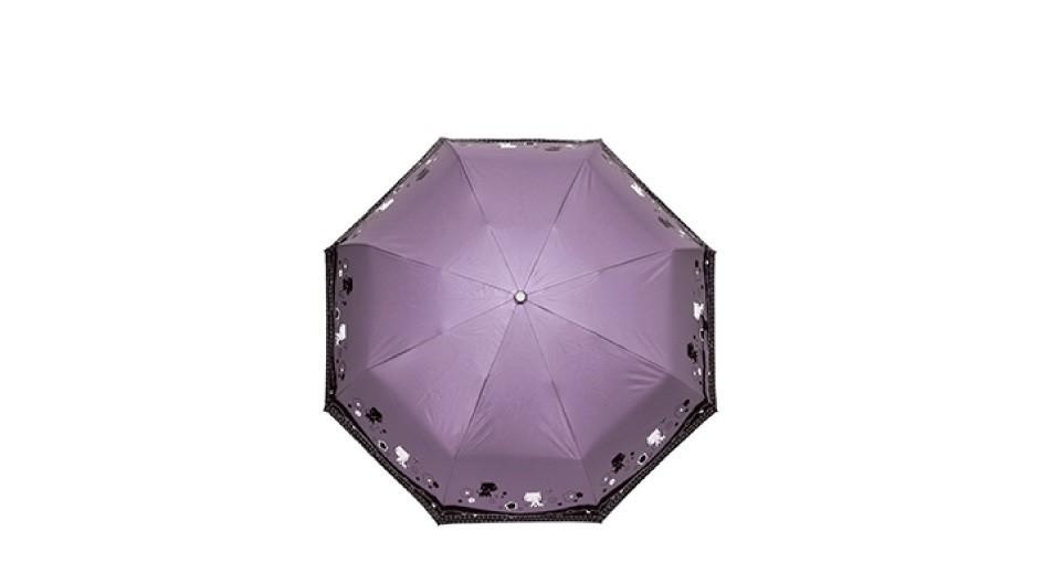 三折色膠花園貓自動開收傘