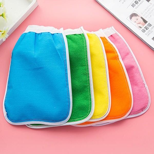 雙面手套搓澡巾 刷澡巾 去角質手套 顏色隨機發送