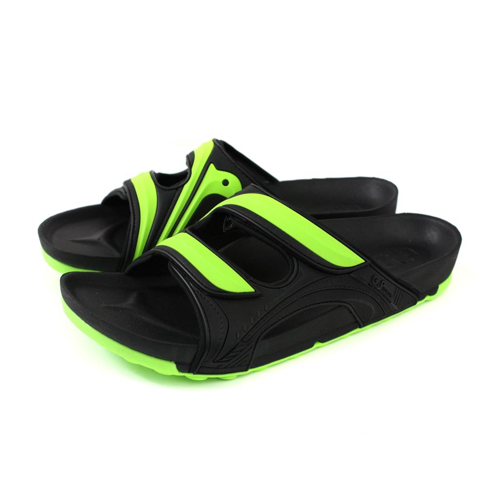 G.P (Gold.Pigon) 阿亮代言 拖鞋 雨天 綠/黑色 男鞋 G9030M-60 no035