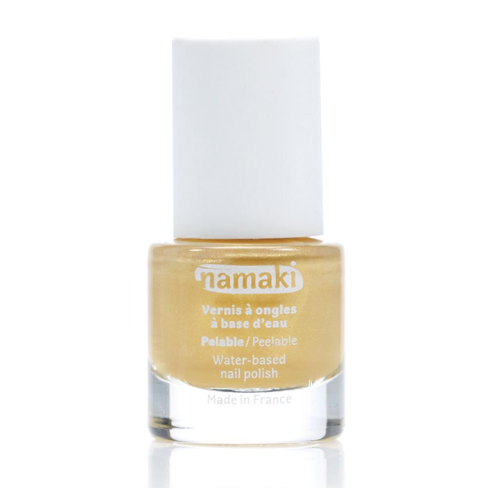 法國namaki 幼兒專用可撕式水性指甲油-閃耀金